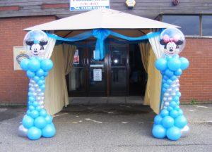 Mickey and Minnie graduated balloon columns