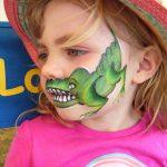 crocodile face painting